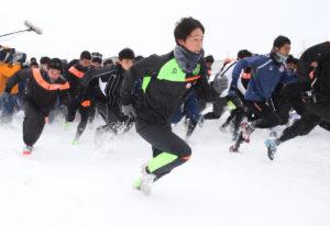 青森山田雪上サッカー