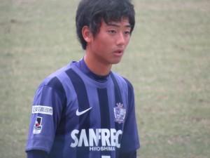 U-16の日本代表にも選ばれた実績を持つMF中川