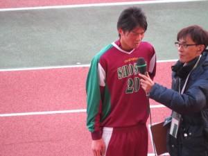 選手権1回戦でチームを勝利に導くゴールをあげたDF佐藤