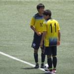 冨山と岡崎の攻撃力は総体ベスト4に大きく貢献した。