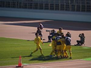 決勝ゴールに喜び柏U18イレブン